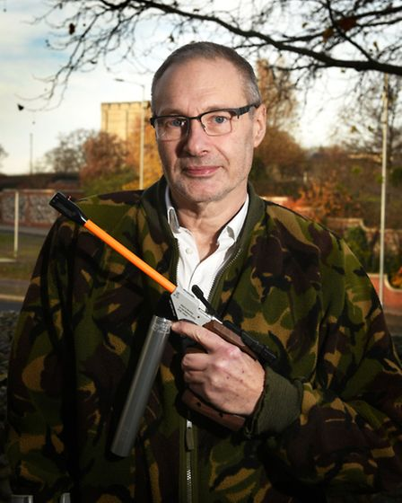Colin Allison, 60, a disabled ex-serviceman who is hoping to reach the Paralympics in pistol shootin