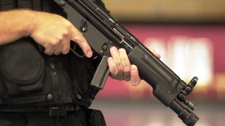 Armed police were called to Norwich train station following reports of a man armed with a knife. Pic