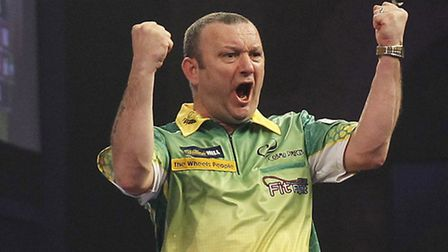 Darren Webster will not be able to wear yellow and green at Ally Pally tonight, when he faces Simon