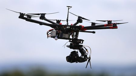 Embargoed to 0001 Wednesday March 2File photo dated 21/08/15 of an Octocopter type drone, as airline
