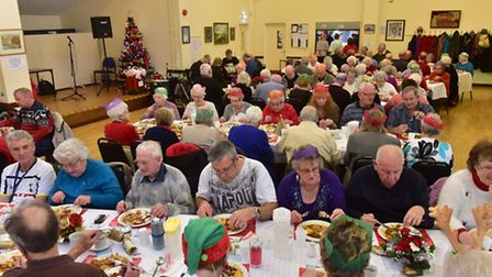 Kingsley Healthcare sponsor the Lowestoft club for elderly people's Christmas party.PHOTO: Nick Butc