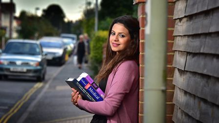Syrian refugee Enana Alassaf is hoping to complete her PhD at the UEA.Picture: ANTONY KELLY