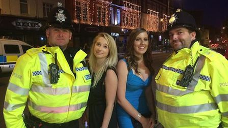 Norfolk police officers posed for selfies with people enjoying a night out in Prince of Wales Road i