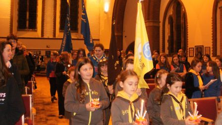 Girl Guides held their annual Christingle service at St Peters Church in Sheringham. Picture: SUBMIT