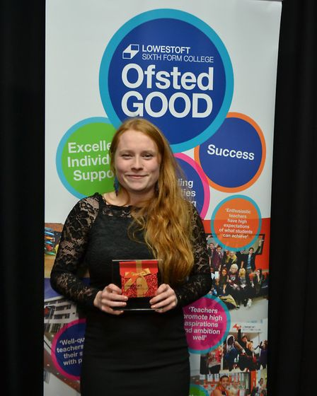 Lowestoft Sixth Form Awards 2016: Award winners, Charnelle Riggall. Photo: Tim Prior