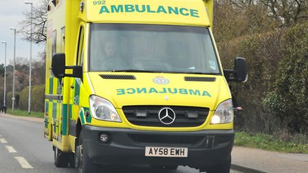 Library image of an East of England Ambulance Service vehicle. Picture Simon Finlay
