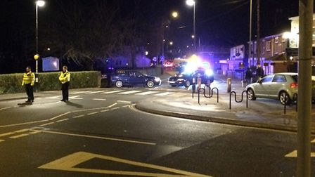 Magdalen Road has been closed after an accident. Picture by Pete Raven.