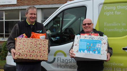Flagship Group is donating food boxes to foodbanks in Norwich, Dereham and Thetford. Picture by Flag