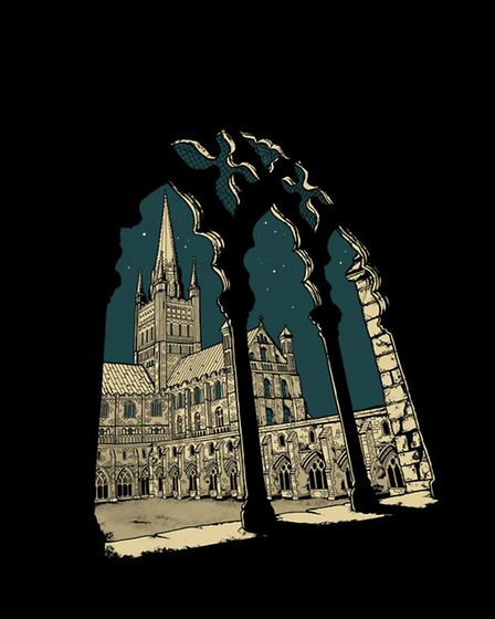 Norwich artist Beverley Gene Coraldean has created a new print of Norwich Cathedral to celebrate The