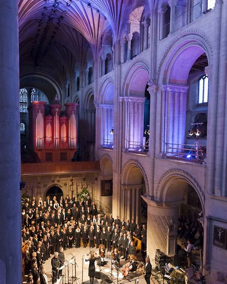 The Voice Project performing at Norwich Cathedral. Photo: Dave Guttridge.