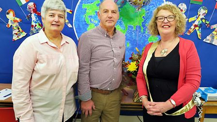 The retirement of Mrs. Laura Sproston (right) of Parkers Primary and Caston Primary Schools.