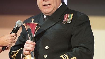 Lieutenant Commander Joe Meadows at the National Military Awards. Picture: Paul Edwards.