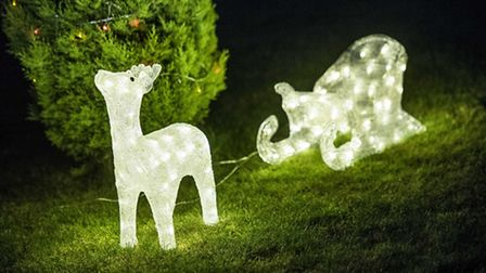 Some of the lights displays at Paget Adams Drive in Dereham. Picture: Matthew Usher.