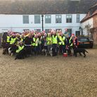 Walking with the wounded mince pie walk on Saturday 17th Dec 2016 in Wells-next-the-sea. The Walking