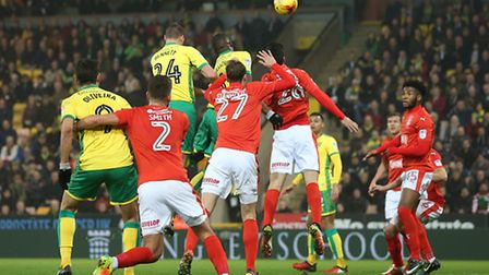 Seb Bassong went close with a late header. Picture by Paul Chesterton/Focus Images Ltd