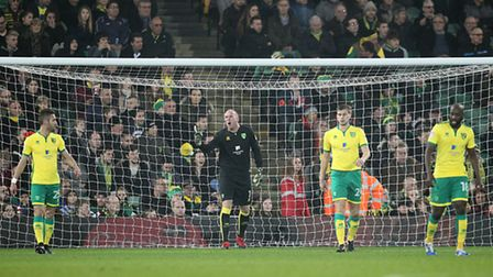 Another inquest underway in the Norwich City backline. Picture by Paul Chesterton/Focus Images Ltd