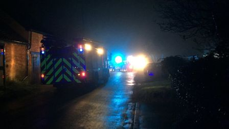 Emergency services were called to a chemical incident at Saham Toney. Picture: Breckland Police