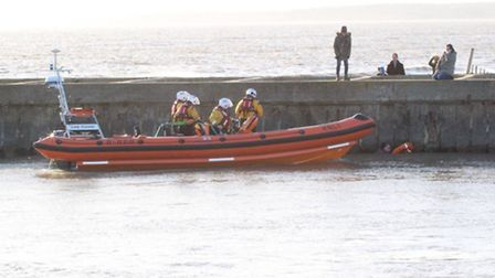 Rescue mission in Southwold. Picture Trevor Mayes