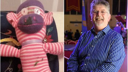 Molly Simpson, 2, named her monkey toy after county councillor Bert Bremner. Photo: Abby Simpson/Arc