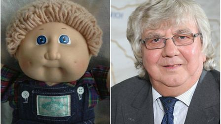 A child named her Cabbage Patch Kid doll after county councillor Cliff Jordan. Photo: Archant