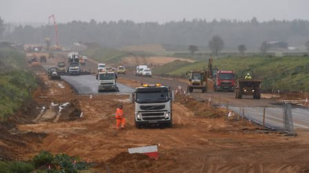 A look at the route of the NDR, and how work is progressing. Asphalt is laid near Drayton Lane, look