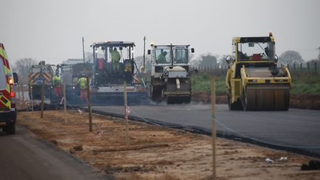 A look at the route of the NDR, and how work is progressing. Asphalt is laid between the Bell Farm T