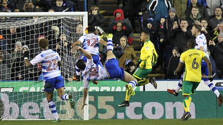Garath McCleary slots the rebound after Yann Kermorgant's penalty cannons off the bar. Picture by Pa