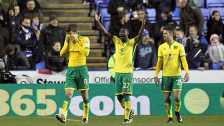 Jonny Howson is red-carded for handling on his own line. Picture by Paul Chesterton/Focus Images Ltd