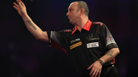 Darren Webster during day nine of the William Hill World Darts Championship at Alexandra Palace, Lo