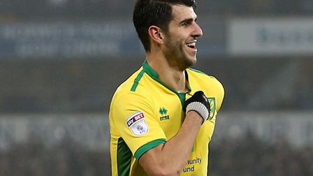 Nelson Oliveira has scored three goals in his last four games for Norwich City. Picture by Paul Ches