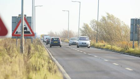 The A47 Acle Straight which runs between Great Yarmouth and Acle passing through Halvergate Marshes