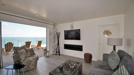 The Cary Arms, Babbacombe Bay, Devon. Beach suite living area.