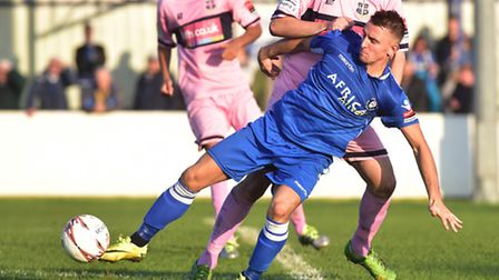 Jake Reed was at the double at Harlow Town for Lowestoft Town.