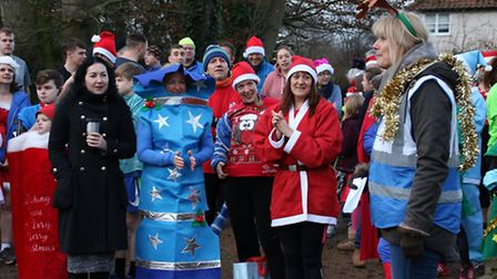 There was a festive feel to the Sheringham parkrun on Christmas Eve. Picture: ALLY McGILVRAY