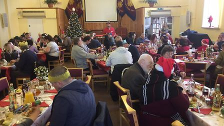 Lowestoft North Salvation Army Christmas meal 2016