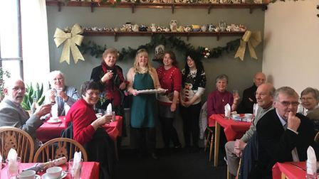 Christmas Day 2016 at The Teapot Cafe in Swaffham, where a free Christmas lunch was provided for mor