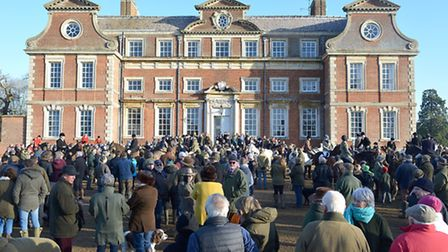 The West Norfolk Foxhounds' Boxing Day meet at Raynham Hall, near Fakenham. Picture: Chris Bishop