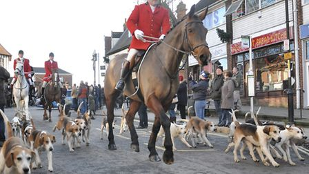 Boxing day hunt starting in Wymondham. Photo by Maria Lewis
