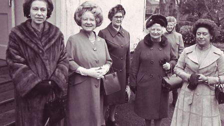 royal visitors to the Woman's Institute- the Queen, Queen Elizabeth, The Queen Mother and Princess M