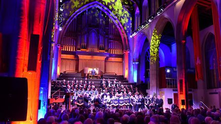 The EDP Festival of Carols at St Andrew's Hall, Norwich. Picture: Simon Finlay