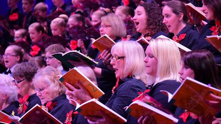 The always hugely popular EDP Festival of Carols with the festival choir in full voice. Picture: Sim