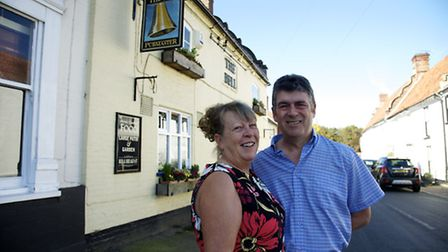 Andreanna and Michael Brookman at the Bell pub in Cawston.Picture: MARK BULLIMORE