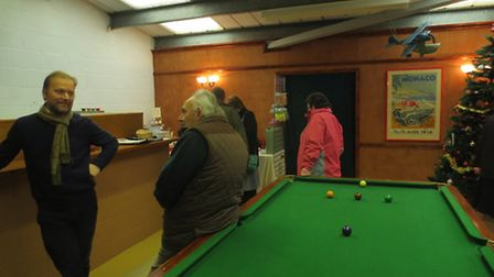 Current pictures of the Tottenhill pop-up bar: Pictures Julian Sutton