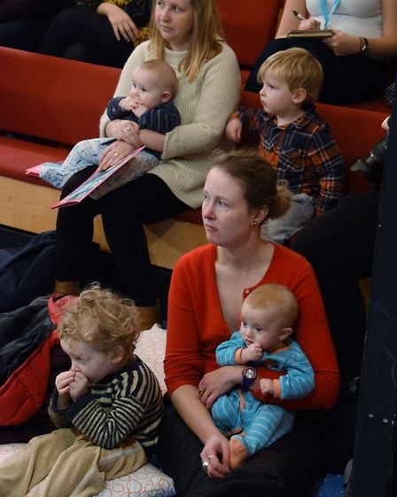 The audience enjoying My First Panto: Cinderella at the Garage. Picture: DENISE BRADLEY