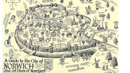 An artist's view of the city: Terry George's cartoon of Norwich.