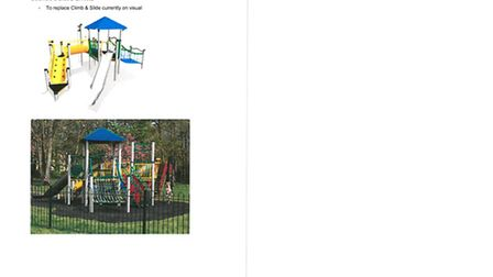 An example of the type of playground equipment hoped to be added to Beaconsfield play area. Picture: