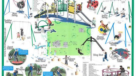 Plans for Beaconsfield Play Area included in PoNY's report Picture: PoNY