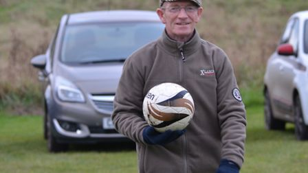 Former Scotland international, Willie Carr, on ball-boy duties at Wells... and not a donkey-kick in