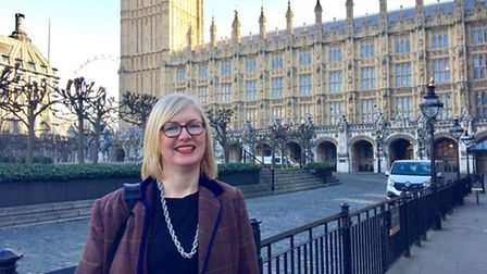 Emma Alfieri visited Parliament for the Resolution campaign and met MP Jo Churchill