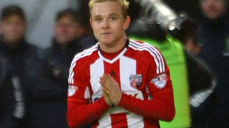 Alex Pritchard scored the vital goal the last time Brentford came to Carrow Road, for the Bees. Toda